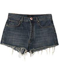 Alanui Short en jean - Bleu
