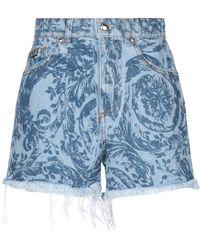 Versace Jeans Couture Short en jean - Bleu