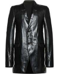 Rick Owens Overcoat - Black