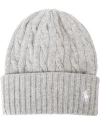 e2a50e7fd86 Polo Ralph Lauren Women s Rope Hat in Gray - Lyst