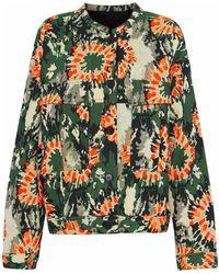Raquel Allegra Woman Cotton-blend Jacquard Jacket Army Green