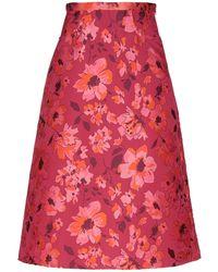 I'm Isola Marras 3/4 Length Skirt - Red