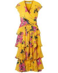 Etro 3/4 Length Dress - Yellow