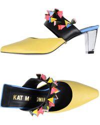 Kat Maconie Mules - Yellow