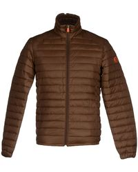 Save The Duck Synthetic Down Jacket - Brown