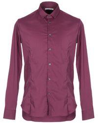 Grey Daniele Alessandrini Shirt - Purple