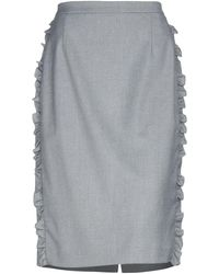 Blumarine Midi Skirt - Grey