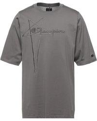 Rick Owens X Champion Camiseta - Gris