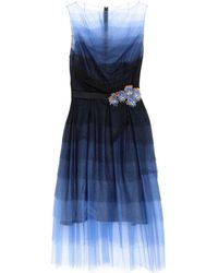 Talbot Runhof Robe aux genoux - Bleu