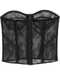 Saint Laurent Bustiers, Corsets & Suspenders - Black