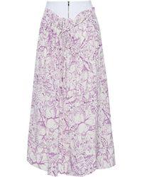 Tibi Long Skirt - Purple