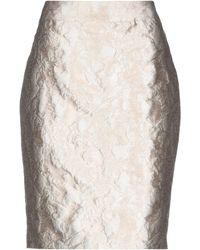 Armani Knee Length Skirt - Natural