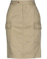 Polo Ralph Lauren Knee Length Skirt - Natural