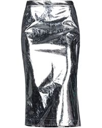 McQ 3/4 Length Skirt - Metallic