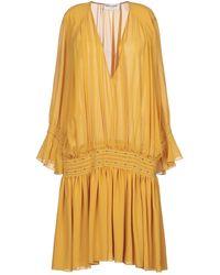Saint Laurent Short Dress - Yellow