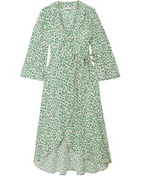 Ganni Vestido a media pierna - Verde
