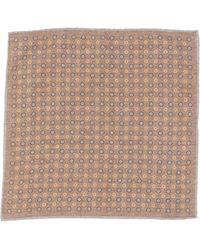 Eleventy Square Scarf - Brown