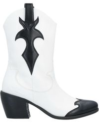MY TWIN Twinset Ankle Boots - White