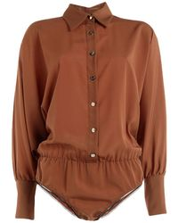 W Les Femmes By Babylon Shirt - Brown