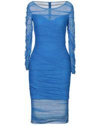 Versace Vestido por la rodilla - Azul