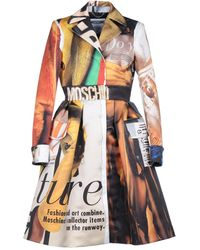 Moschino Overcoat - Multicolour