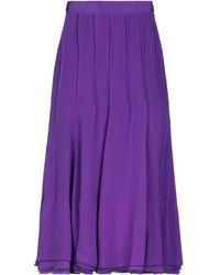Rochas 3/4 Length Skirt - Purple