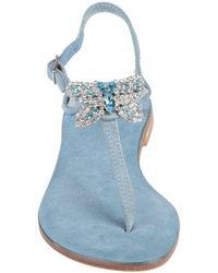 Positano By Jean Paul Toe Strap Sandals - Blue