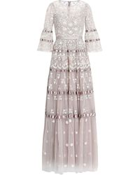 Needle & Thread Langes Kleid - Mehrfarbig