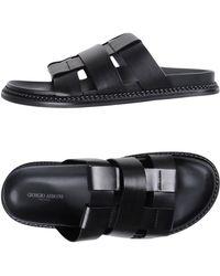 db94b635a Lyst - Giorgio Armani Crossover Sandal in Black for Men