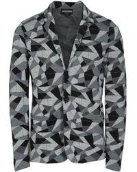 Emporio Armani - Geometric Patterned Blazer - Lyst