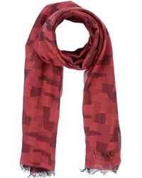 Armani Oblong Scarf - Red