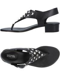 MICHAEL Michael Kors Toe Strap Sandal - Black