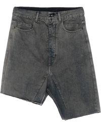 Rick Owens Drkshdw Denim Skirt - Grey