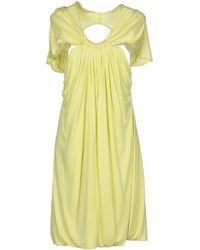 Cut25 by Yigal Azrouël Short Dress - Green