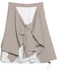 Nina Ricci Midi Skirt - Natural