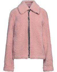 Cedric Charlier Teddy coat - Rosa
