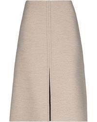 Jil Sander 3/4 Length Skirt - Natural