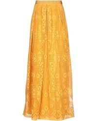 Alberta Ferretti Long Skirt - Yellow