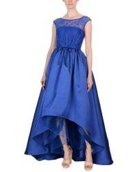 Mikael Aghal 3/4 Length Dress - Blue