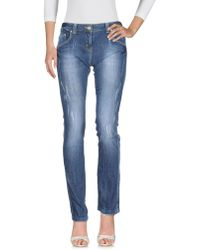 Roccobarocco - Denim Pants - Lyst