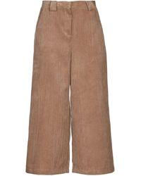 CROCHÈ Cropped Trousers - Natural