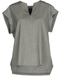 Eleventy Blouse - Grey