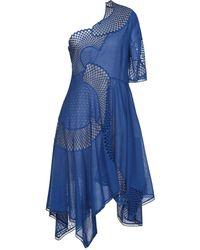 Stella McCartney - Robe asymétrique à design en résille - Lyst
