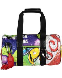 Moschino Travel Duffel Bag - Purple
