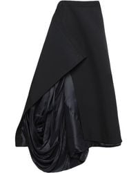 Y. Project 3/4 Length Skirt - Black
