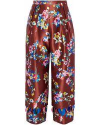 Delpozo Trousers - Brown