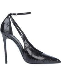 Grey Mer Court Shoes - Black