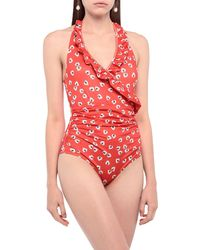 Ganni One-piece Swimsuit - Red