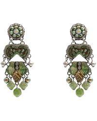 Ayala Bar Earrings - Green