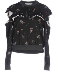 Philosophy Di Lorenzo Serafini - Ruffled Floral-print Cotton-jersey Sweatshirt - Lyst